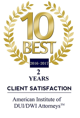 Best DUI / DWI Attorneys Client Satisfaction 2 years